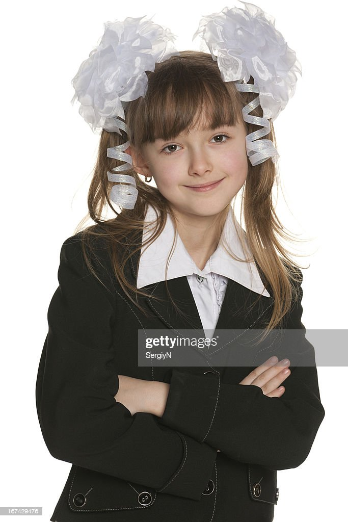 Portrait of a school girl : Stock Photo