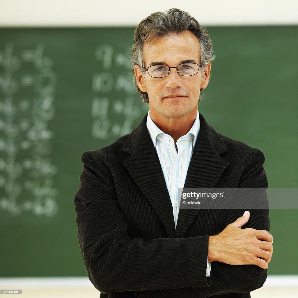 Portrait of a school teacher : Stock Photo