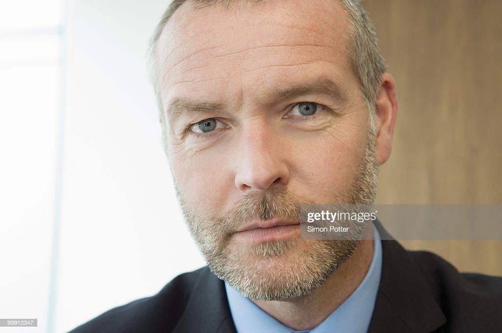 A portrait of a senior business man : Stock Photo