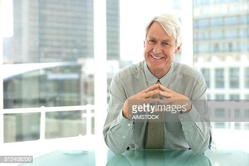 Portrait of a senior CEO