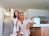 Portrait of a Senior Couple in a Modern Kitchen
