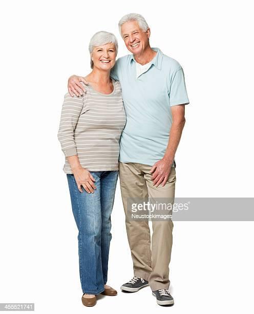 Porträt der ein altes Paar-isoliert