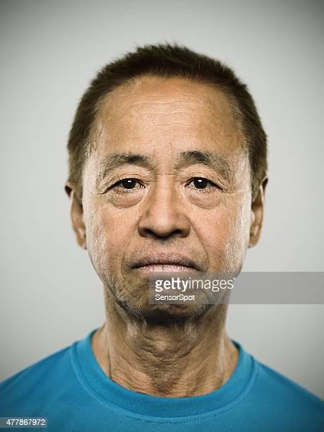 Portrait d'un homme senior japonais
