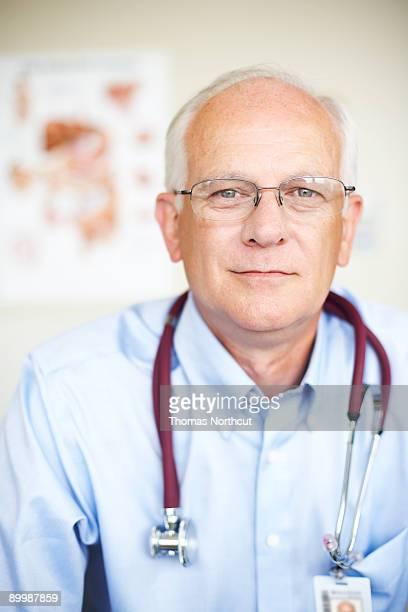 portrait of a senior male doctor