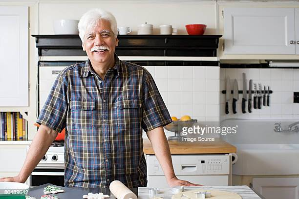Portrait of a senior man in the kitchen