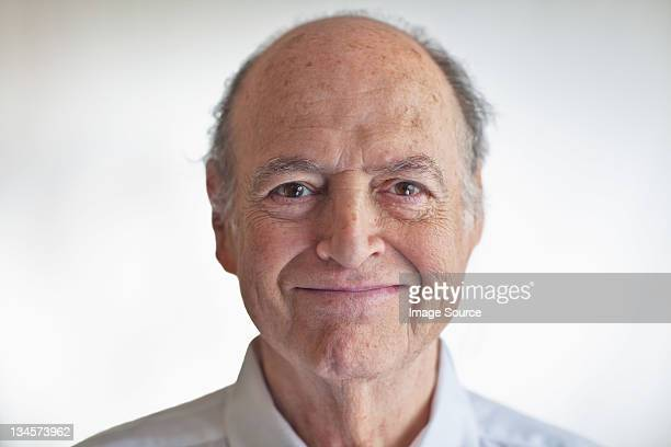 Portrait of a senior man looking pleased