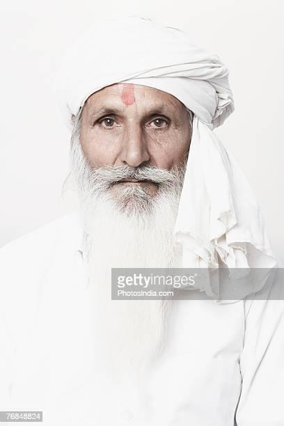 Portrait of a senior man wearing a turban