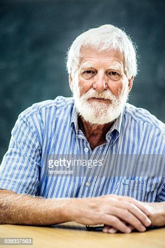 Portrait of a Senior man with white beard