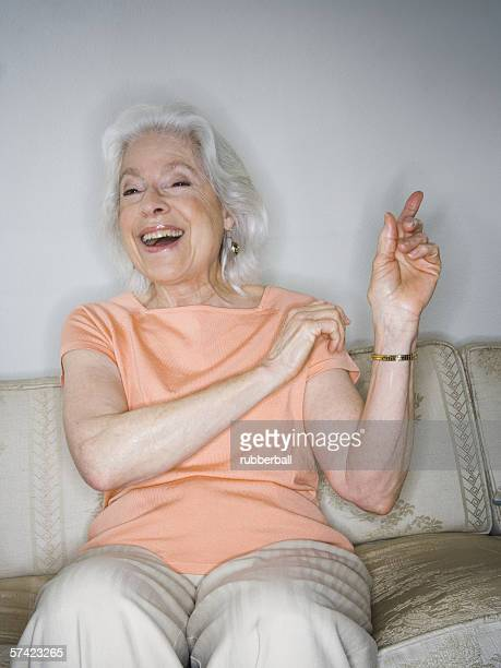 Portrait of a senior woman laughing