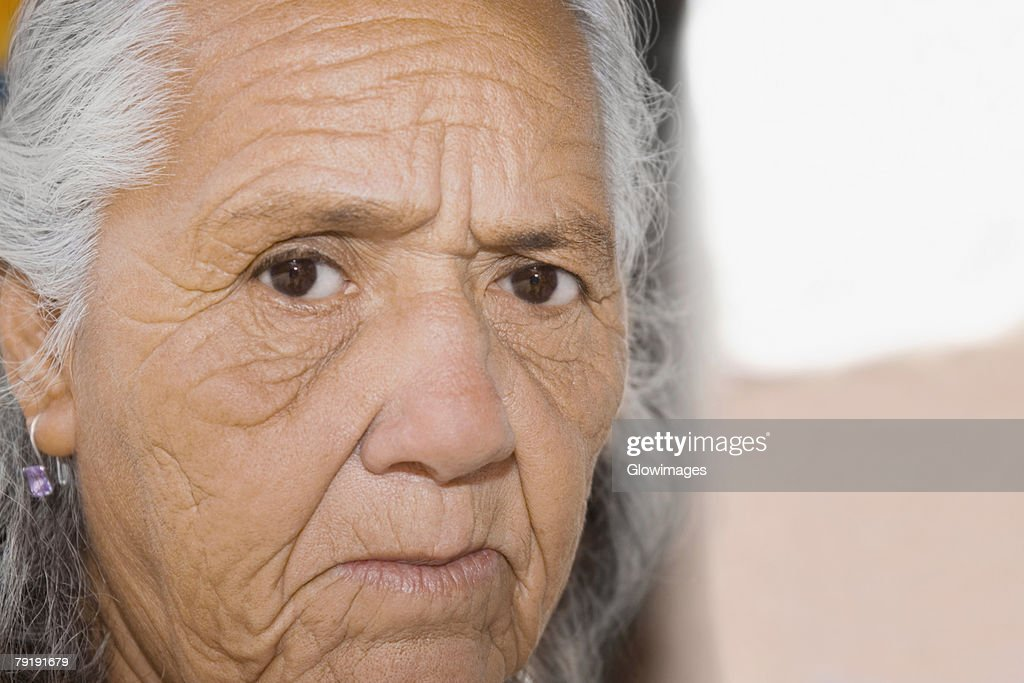Portrait of a senior woman : Foto de stock