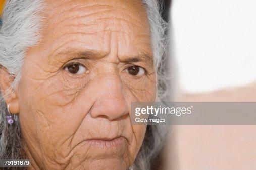 Portrait of a senior woman : Foto de stock