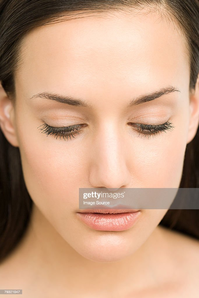 Portrait Of A Serene Looking Woman Stock Photo | Getty Images