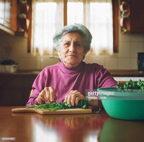 Portrait of a serion woman