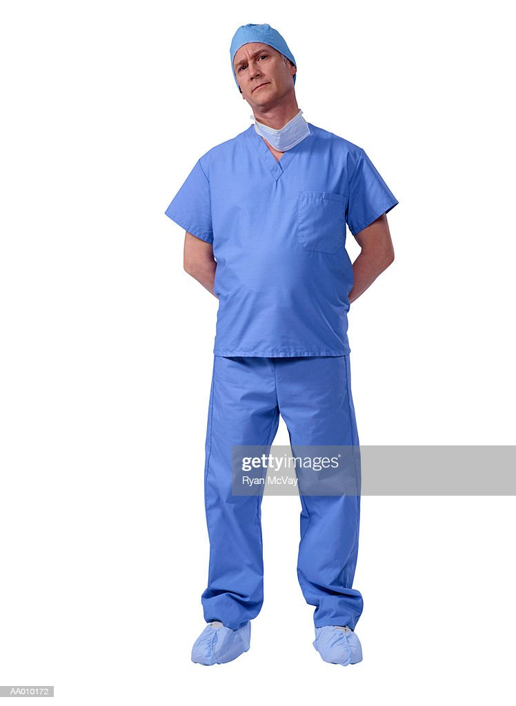 Portrait of a Serious Surgeon : Stock Photo