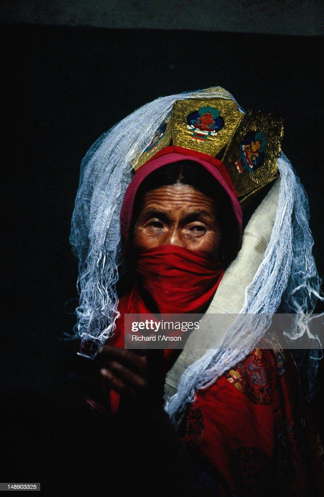 Portrait of a Shaman from the village of Sabu near Leh.