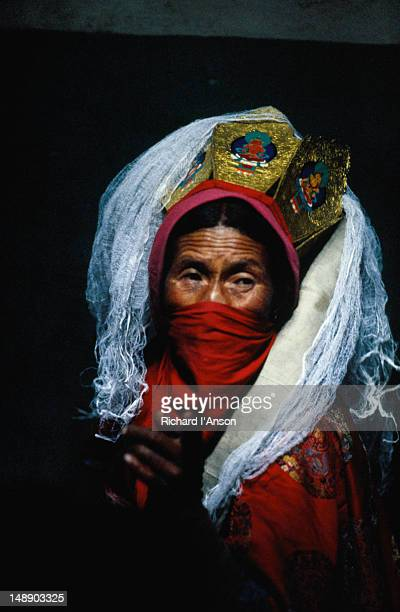 Portrait of a Shaman from the village of Sabu near Leh.
