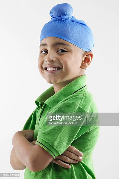 Portrait of a Sikh boy