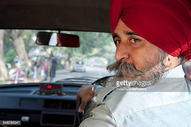 Portrait of a Sikh taxi driver