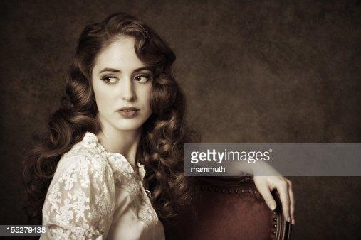 portrait of a sitting woman