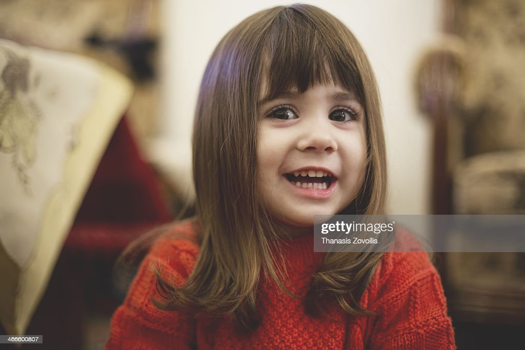 Portrait of a small girl : Stock Photo
