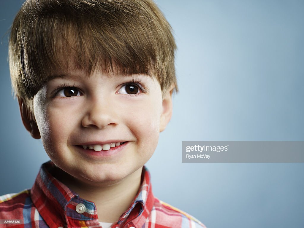 Portrait of a smiling 3 year old boy.  : Stock Photo