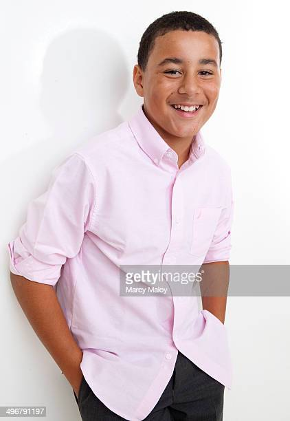 Portrait of a smiling adolescent boy.