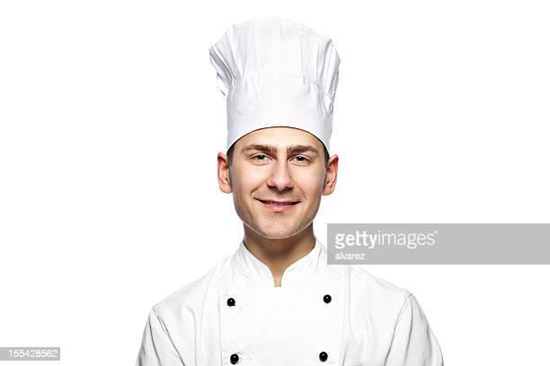 Portrait d'un souriant cuisinier ou chef de