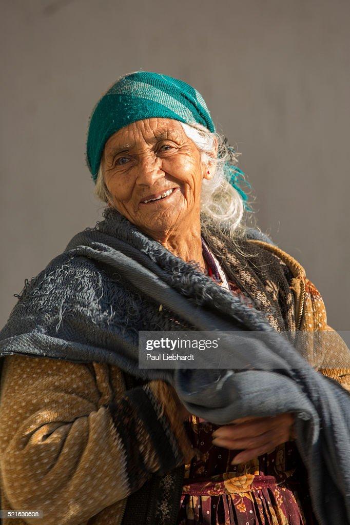 Portrait of a Smiling, Elderly Guatemalan Woman