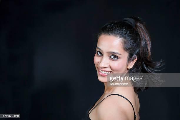 Portrait of a smiling elegant woman