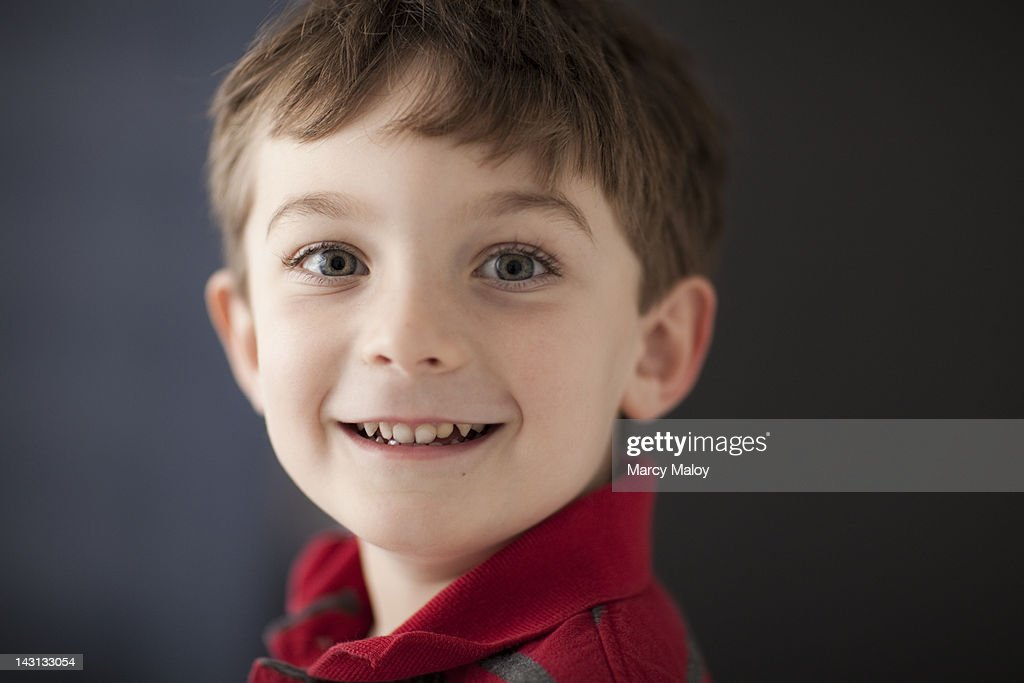 Portrait of a smiling little boy. : Stock Photo
