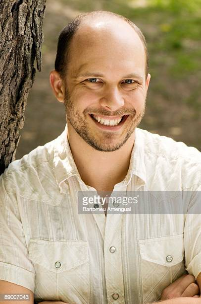 Portrait of a smiling man outdoors