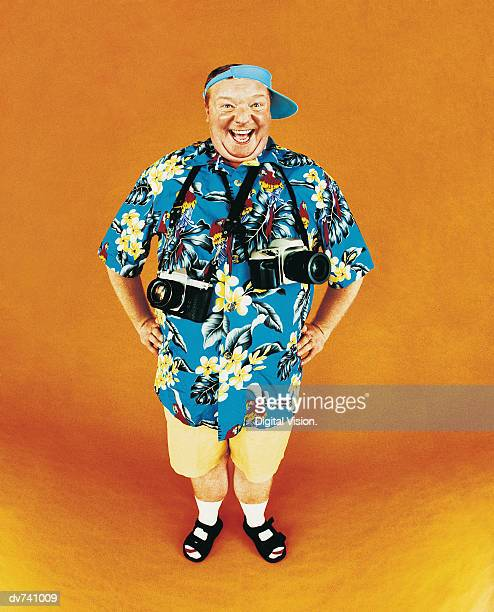 Portrait of a Smiling Tourist