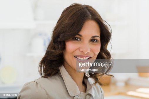 Portrait of a smiling woman : Stock Photo
