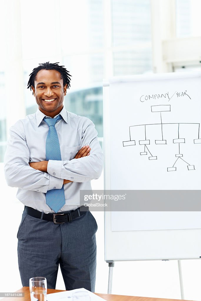 Portrait of a smiling young businessman : Stock Photo