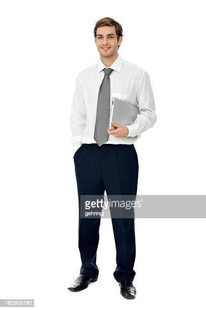 Retrato de un Sonriente joven empresario