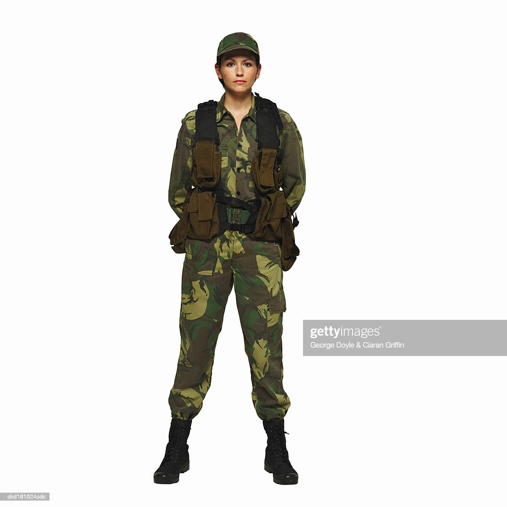 Portrait of a soldier : Stock Photo