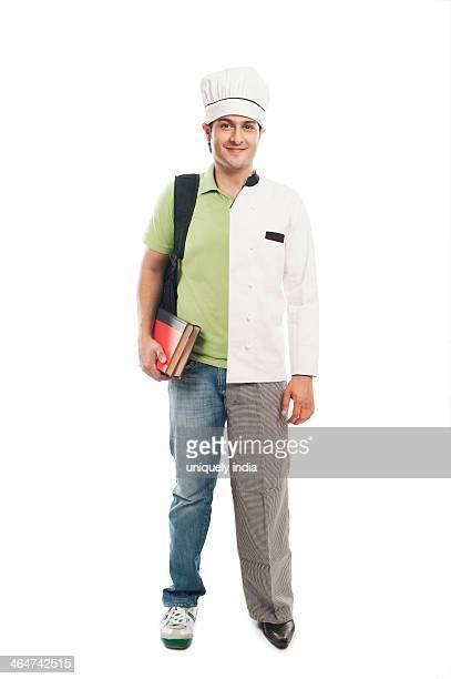 Portrait of a spilt personality man smiling