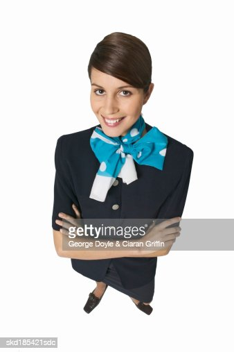Portrait of a stewardess : Stock Photo