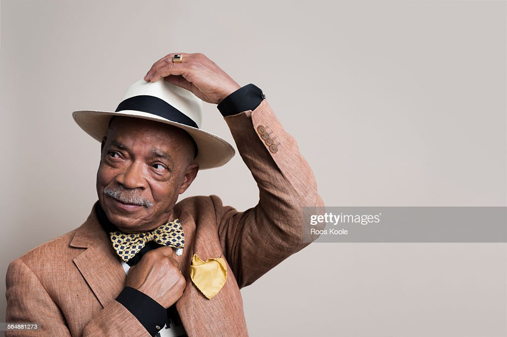 Portrait of a stylish senior man