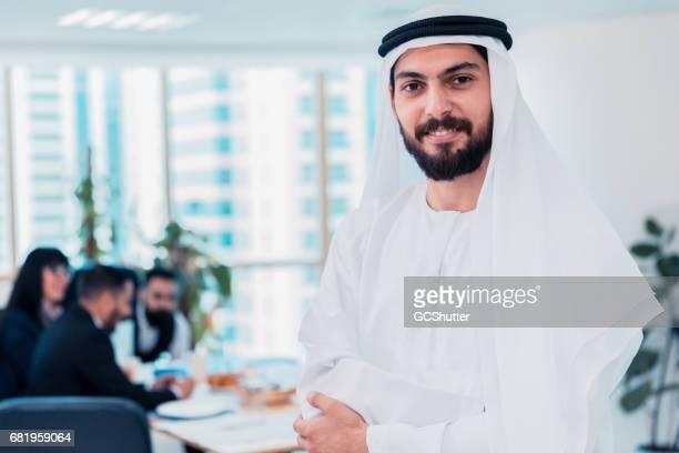 Portrait of a Successful Emirati Arab Businessman