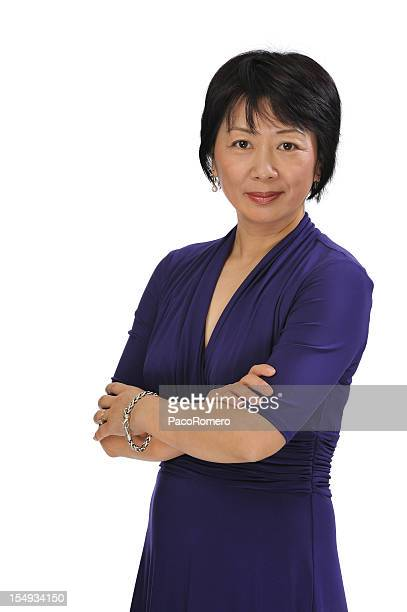 Portrait of a successful middle-age Chinese executive