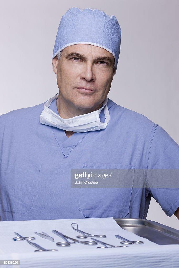 Portrait of a Surgeon. : Stock Photo