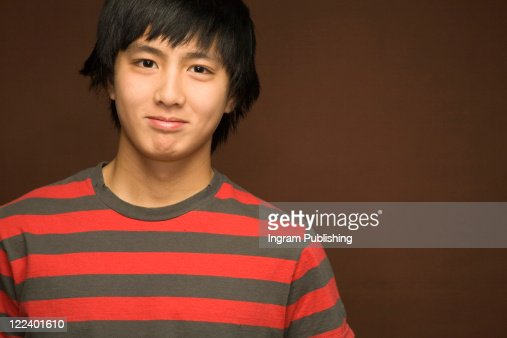 Portrait of a teenage boy : Foto de stock