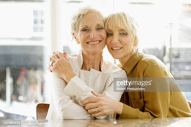 portrait of a two mother and daughter