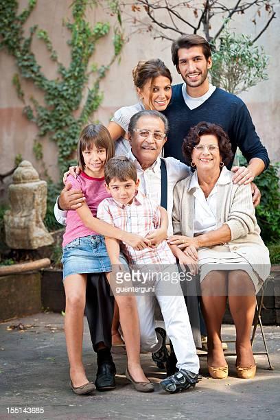 Porträt einer italienischen Familie