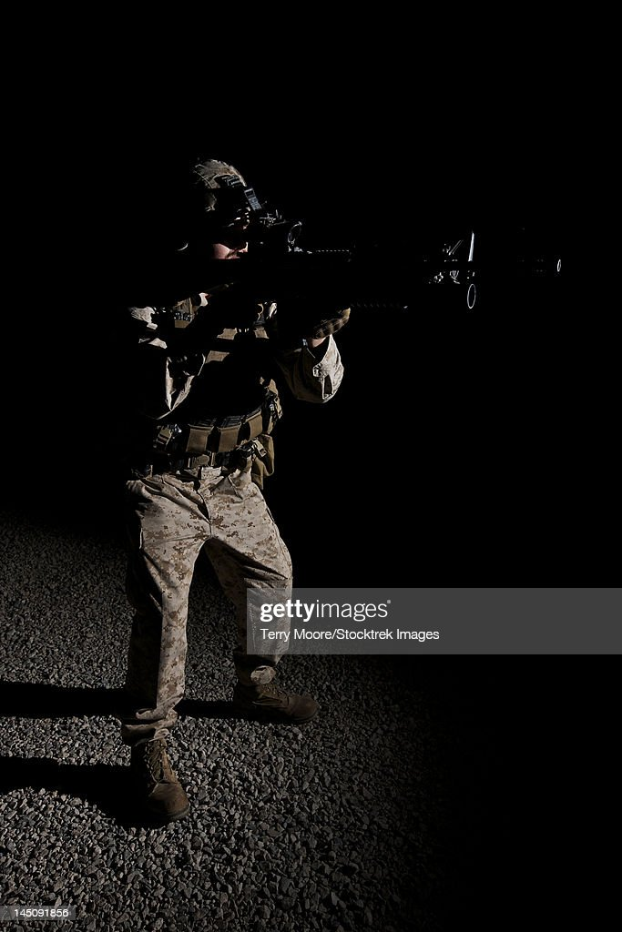 Portrait of a U.S. Marine in Northern Afghanistan.