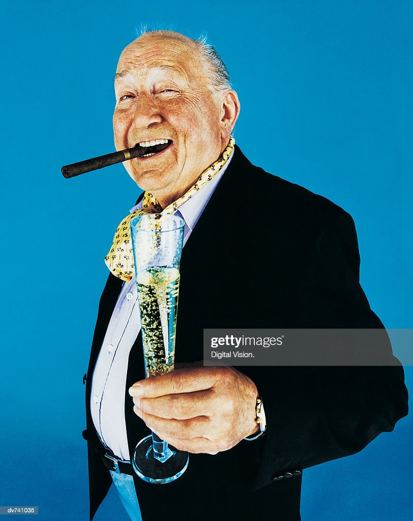 Portrait of a Wealthy Man : Stock Photo