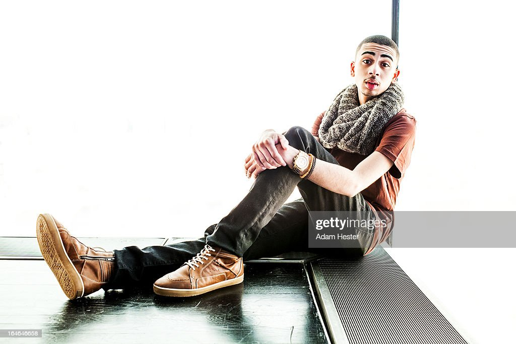 Portrait of a well dressed young man inside. : Stock Photo