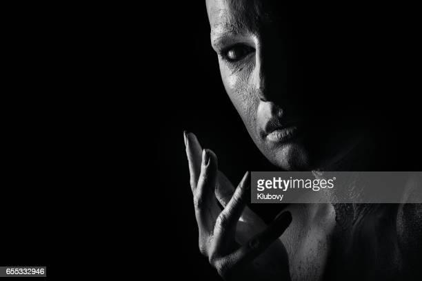 Portrait of a white human