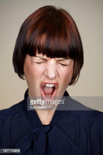 Portrait of a woman celebrating.